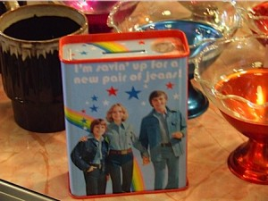 I really don't get the rainbow and stars beind the denim family.
