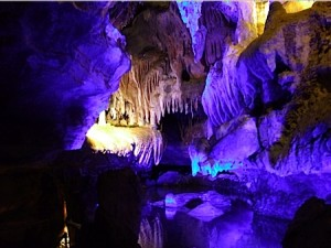 An underground pond in Ruby Falls Cave