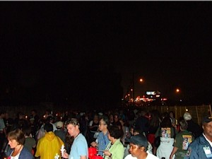 Thousands stand in line during the annual candlelight vigil at Graceland.