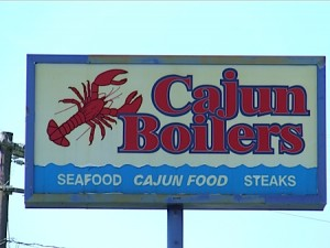 You've got to try the bread pudding at Cajun Boilers - but bring your own ice cream!