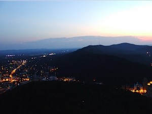A view from the Mountain Tower in Hot Springs, AR