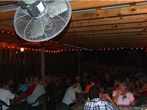 The patio at Cajun Boilers