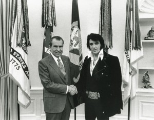 Elvis received a DEA badge from President Richard Nixon at the infamous White House meeting