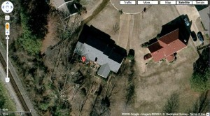 """A"" marks the spot on Google Maps where Hamburger James resides."