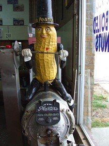 An artifact from yesteryear at The Peanut Shoppe on Summer Ave. in Memphis