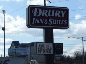 The Drury Inn and Suites is trying anything to attract guests in the down economy.
