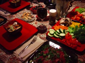 Fondue dinners at home have become a favorite of ours!