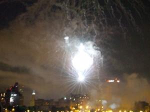 Fireworks over the Memphis skyline