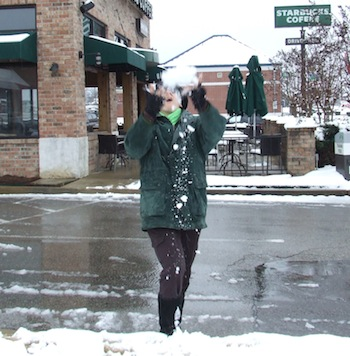 Char in the snow