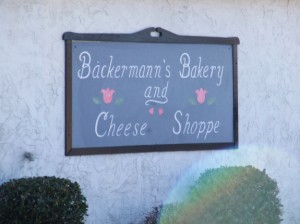 We stocked up on food and snacks at Backermann's Bakery and Cheese Shoppe.