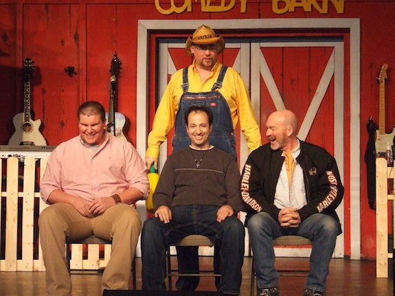 Louis participates in a skit at the Comedy Barn in Pigeon Forge, TN
