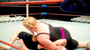 Char and Louis during their match that took place while they experienced A Day in the Life of a Professional Wrestler