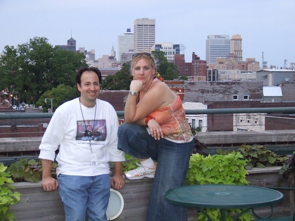 The Traveling Twosome in downtown Memphis on top of Central Station