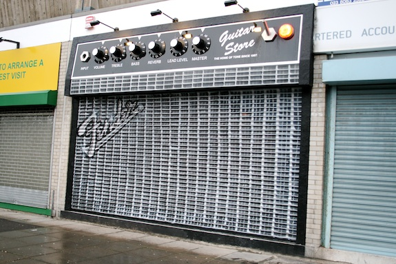 The Guitar Store in Southampon, England