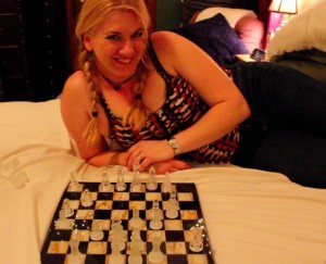 Char wins her first Chess match... against her trainer!