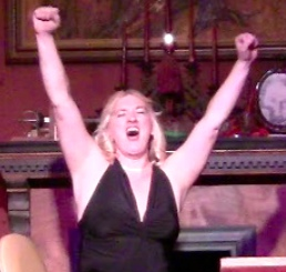 Char Magnifico celebrates her victory in the 2010 Traveling Twosome Olympics last year.