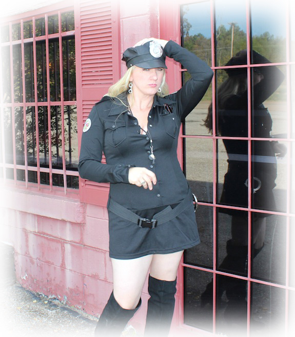 Char Magnifico in her police woman costume.