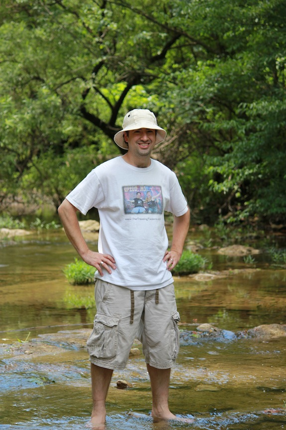 Louis Magnifico in a mountain creek in the Ozarks