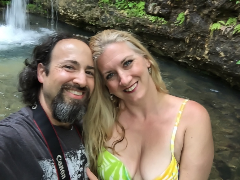 Couple Selfie by a Waterfall