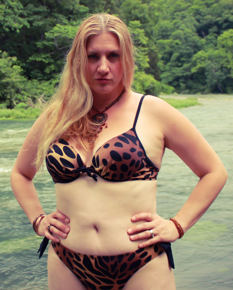 Char Magnifico in bikini at the Eleven Point River