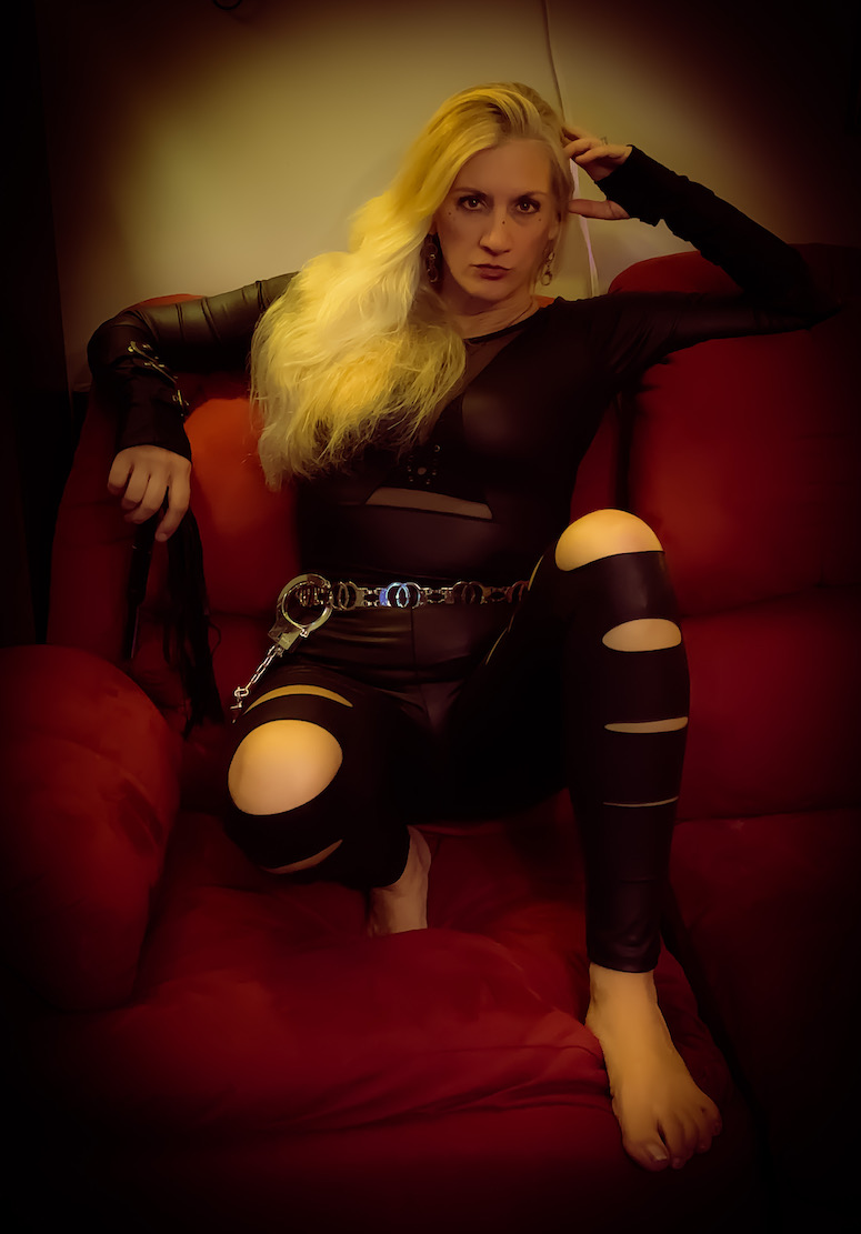 Char in Dominatrix Costume