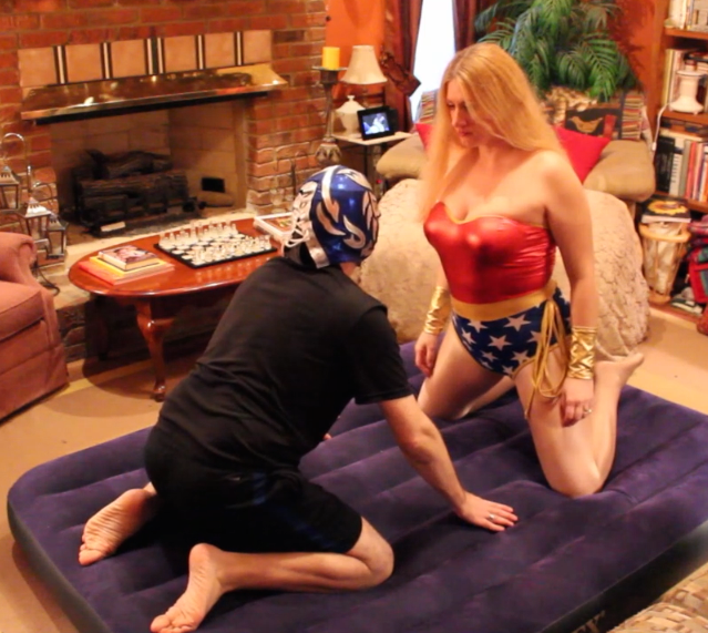 Wonder Woman vs Masked Wrestler Mixed Wrestling