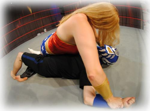 Wonder Woman Goes Wrestling