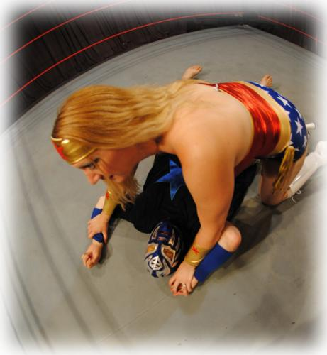 Wonder Woman in a Mixed Wrestling Match