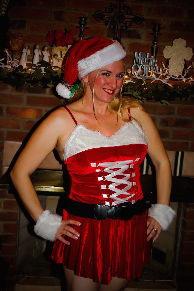 Char Magnifico in her Santa Baby costume